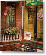 Cafe - The Best Ice Cream In Lancaster Metal Print by Mike Savad