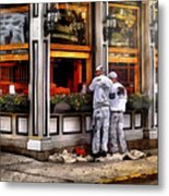 Cafe - The Painters Metal Print by Mike Savad