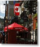 Cafes And Bars Along Crescent Street Metal Print