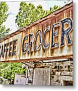Caffee Grocery Metal Print
