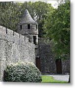 Cahir Castle Wall And Tower Metal Print