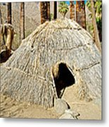 Cahuilla Indian Dwelling In Andreas Canyon In Indian Canyons-ca Metal Print