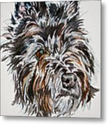 Cairn Terrier Martha Metal Print