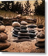 Cairn Whitefish Point Michigan Metal Print