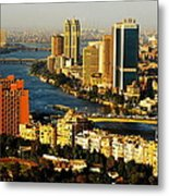 Cairo From Above Metal Print by Chaza Abou El Khair