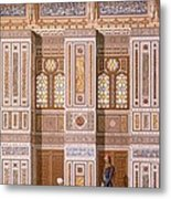 Cairo Interior Of The Mosque Metal Print