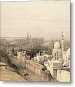 Cairo Looking West, From Egypt Metal Print