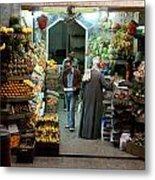 Cairo Market Metal Print