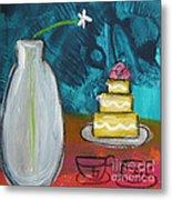 Cake And Tea For Two Metal Print