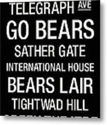 Cal College Town Wall Art Metal Print by Replay Photos
