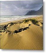 Caleta De Famara Beach On Lanzarote Metal Print