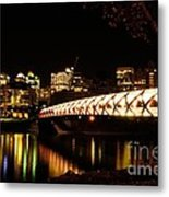 Calgary's Peace Bridge Metal Print