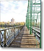 Calhoun Street Bridge Walkway Metal Print