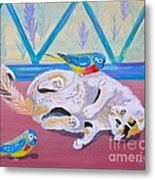Calico And Friends Metal Print