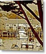 California Coastal Harbor Metal Print
