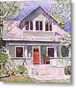 California Craftsman Cottage Metal Print