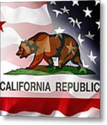 California Republic Within The United States Metal Print