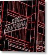 California Street Sign Red Metal Print