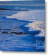 California Pismo Beach Waves Metal Print