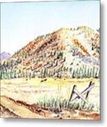 Californian Landscape Saint John Ranch Bald Mountain View Shasta County Metal Print