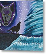 Call Of The Wolf Metal Print