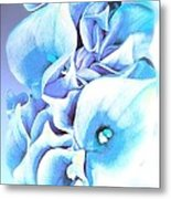 Calla Lilly So Soft Lilac And Blue Metal Print
