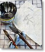 Calligraphers Workshop Metal Print by Gordon  Grimwade