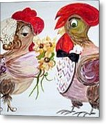 Calling All Chicken Lovers Say I Do Metal Print