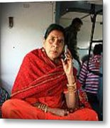 Calling From The Train Metal Print