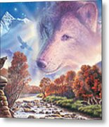 Calling To The Pack Metal Print