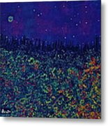 ..calm And Serene Blue Summer Night Metal Print