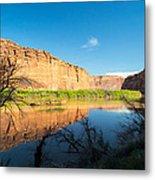 Calm Colorado River Metal Print by Michael J Bauer