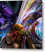 Calming Madness Abstract Metal Print
