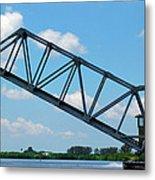 Caloosahatchee Train Draw Bridge Metal Print