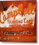 Cambell Farming Corperation Hardin Montana Metal Print