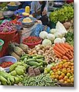 Cambodian Vegetable Market Metal Print by Craig Lovell