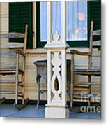 Cambria Squibb House Rocking Chairs Metal Print