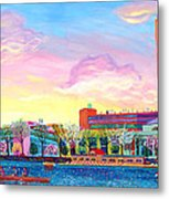 Cambridge In Springtime Metal Print