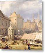 Cambridge Market Place, 1841 Metal Print
