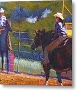Camden Cowboy And Cowgirl Metal Print