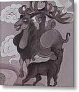 Camel With Horn Metal Print