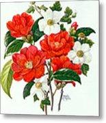 Camellia Adolf Audusson Metal Print