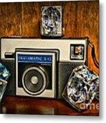 Camera - Kodak Instamatic Metal Print