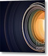 Camera Lens Background Metal Print
