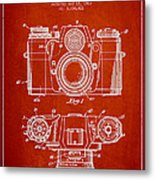 Camera Patent Drawing From 1962 Metal Print