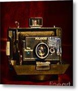 Camera - Polaroid  The Reporter Se Metal Print