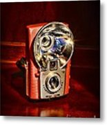 Camera - Vintage Brownie Starflash Metal Print