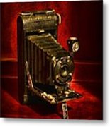 Camera - Vintage Kodak Pocket Camera Metal Print