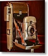 Camera - Vintage Polaroid Land Camera 80 Metal Print