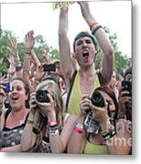 Cameras In The Crowd Metal Print
